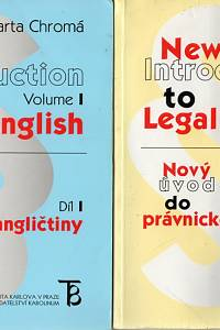 106759. Chromá, Marta – New Introduction to Legal English - Nový úvod do právnické angličtiny I.-II.