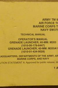 81340. Technical Manual: Operator's Manuel Granade Launcher, 40-MM: M203 (1010-00-179-6447), Granade Launcher, 40-MM: M203A1 (1010-01-434-9028)