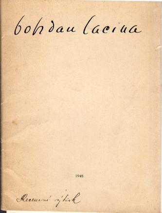 Bohdan Lacina 1948, 32. (412.) výstava Topičova salonu od 3. února do 22. února 1948
