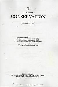 91705. Studies in Conservation, Volume 35 1990, 36 1991 (xerox)