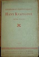 Literární pozůstalost Hany Kvapilové