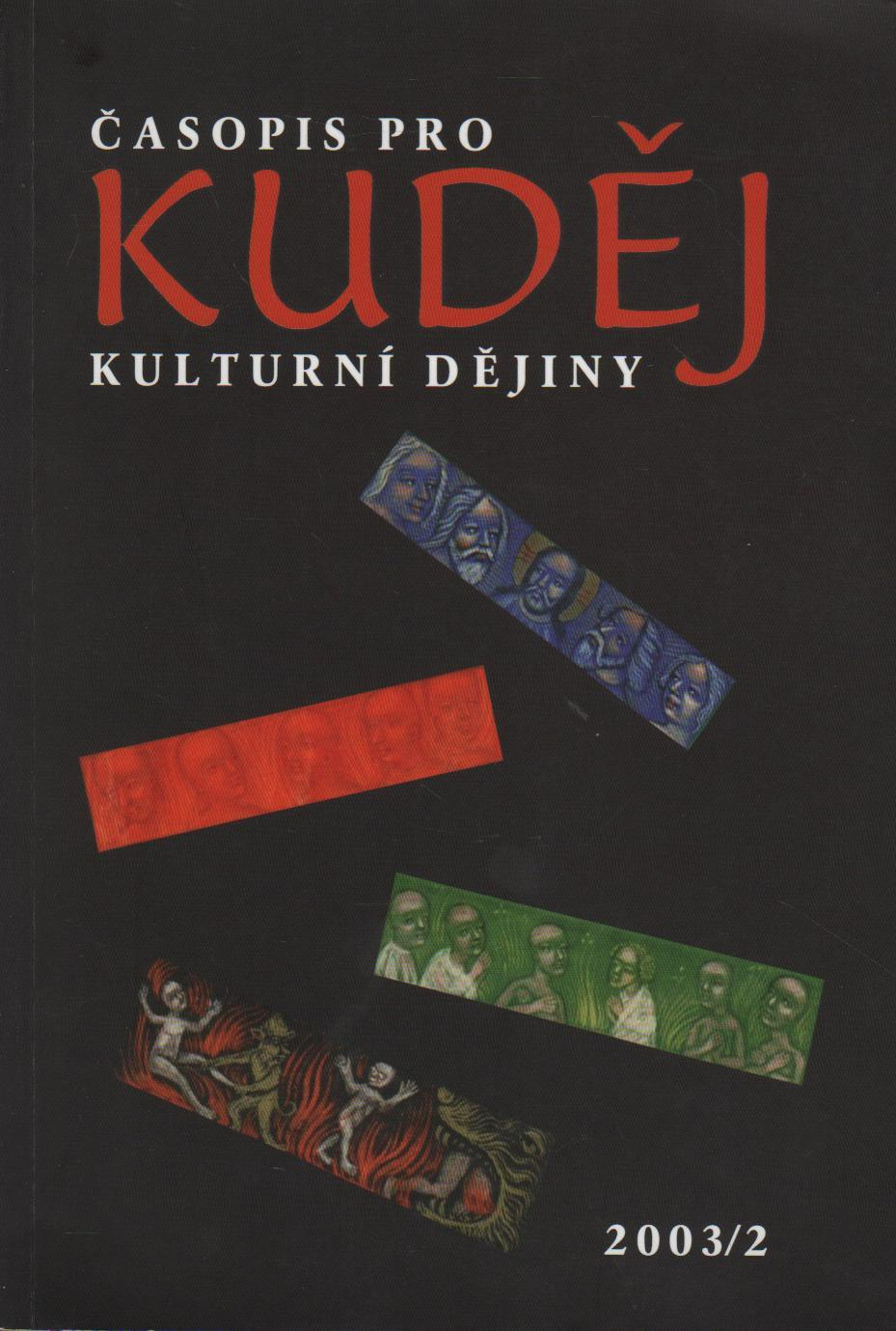 Kuděj, Časopis pro kulturní dějiny 2003/2