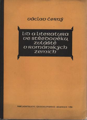 Lid a literatura ve středověku zvláště v románských zemích