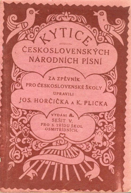 Kytice československých národních písní, Vydání A. sešit V. pro 5. třídu škol osmitřídních.