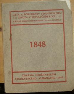 Data a dokumenty studentského života v revolučním roce 1848