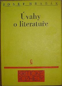 Úvahy o literatuře (bez obálky!!!)